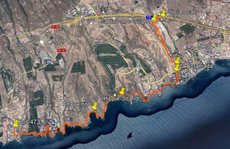 Karte Costa Adeje